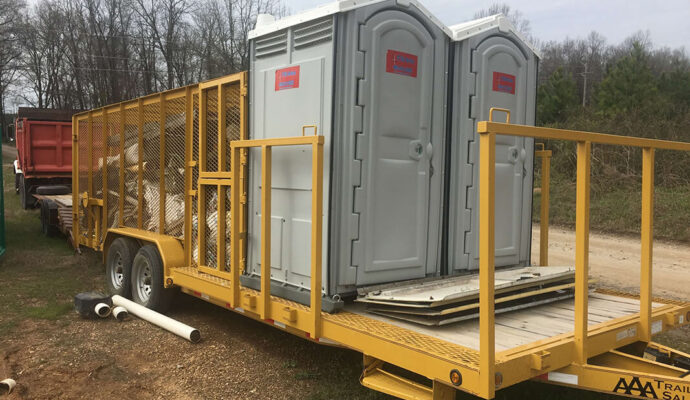 20 Yard Waste Dumpster Containers with Portable Toilets-Lee County Waste Dumpster Rentals Services-We Offer Residential and Commercial Dumpster Removal Services, Portable Toilet Services, Dumpster Rentals, Bulk Trash, Demolition Removal, Junk Hauling, Rubbish Removal, Waste Containers, Debris Removal, 20 & 30 Yard Container Rentals, and much more!